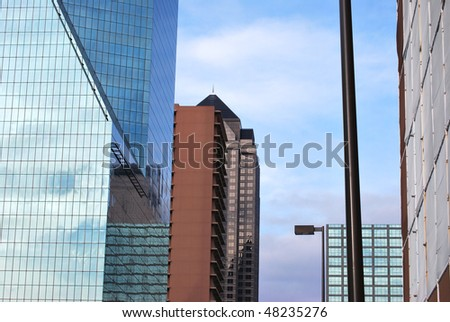 A architectural photograph of a Dallas, Texas building. - stock photo