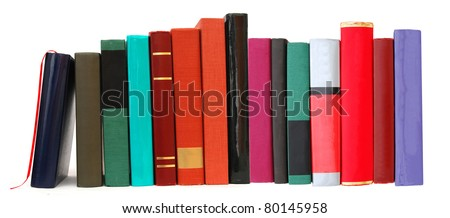 A article textbook row - stock photo