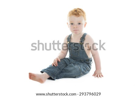 A baby boy portrait over a isolated white background