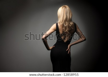 a back of a woman - stock photo