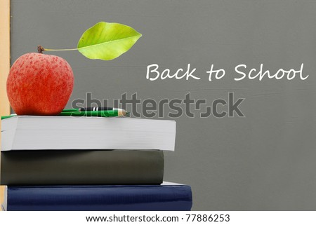 A 'back to school' background - stock photo