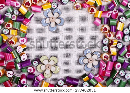 a background bright candy caramel - stock photo