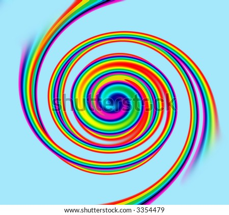 A background composed from a spiral rainbow