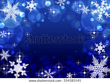a background illustration of christmas snowflake