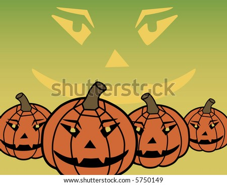 A background illustration of stylized pumpkins. Vector file also available.