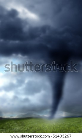 A background image of a tornado in USA - stock photo