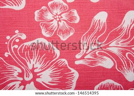 A background image of an orange hawaiian shirt. - stock photo