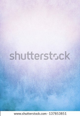 A background image of fog, mist, and clouds with a colorful blue to pink gradient.  Image has significant texture and grain visible at 100%. - stock photo