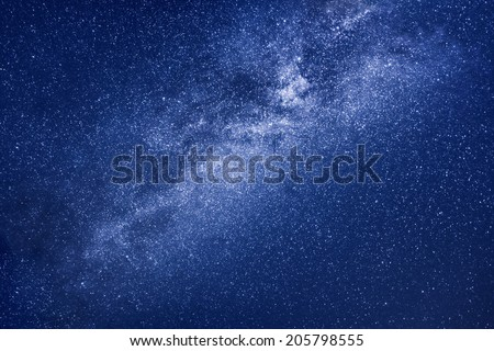 A background image of the milky way stars  - stock photo