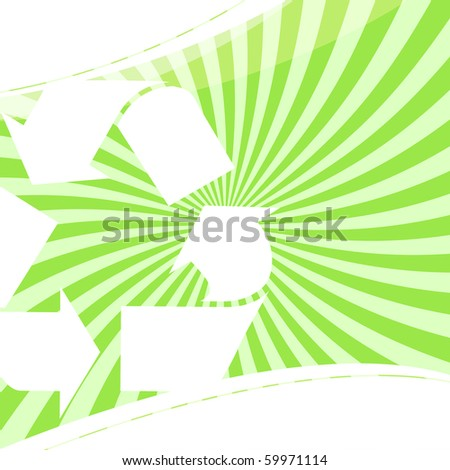 A background layout themed around recycling and environmentalism. Great for going green. - stock photo