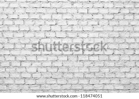 a background of a white brick wall - stock photo