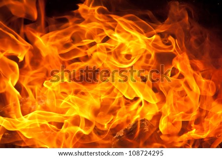 a background of flames - stock photo