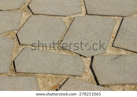 A background of paving tiles at the park - stock photo