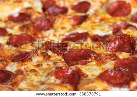 A background of pepperoni pizza.