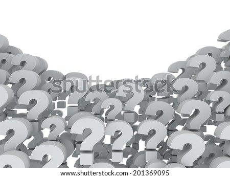 A background of question marks - stock photo