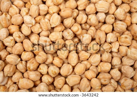 A background of tasty and fresh chickpeas