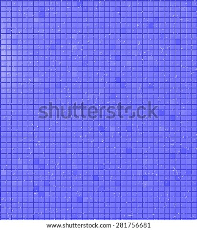 A background pattern of blue tiles with random droplets of water - stock photo