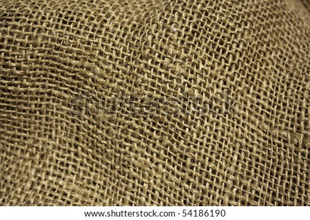 A background/texture from a rough burlap sack - stock photo