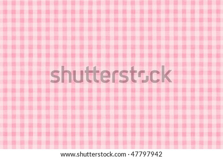 a background texture of pink plaid fabric - stock photo