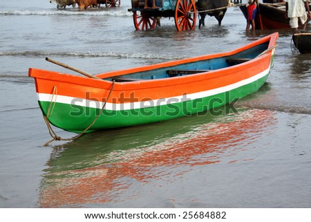 Background View Fishing Boat On Indian Stock Photo 100 Legal