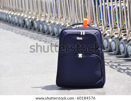 A bag at the airport