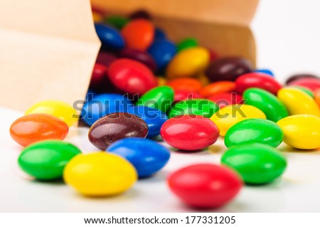 A bag of hard candies - stock photo