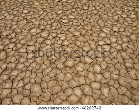 A baked earth soil after a long drought. - stock photo
