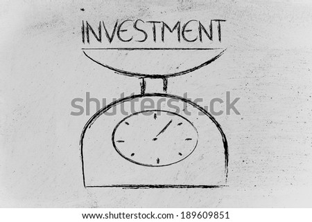 a balance measuring investment
