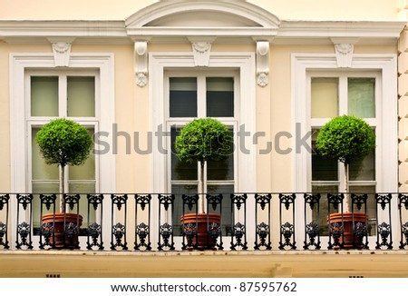 A balcony in London, UK - stock photo