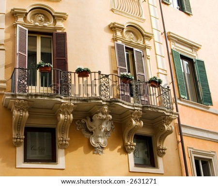 A Balcony in Rome, Italy