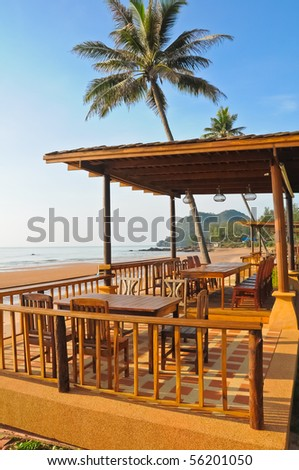 A Balcony Of A Beach Villa and sea view,Thailand