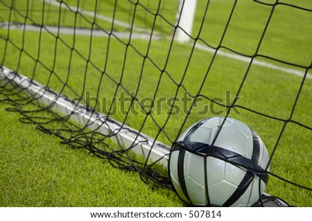 A Ball in the Net - stock photo