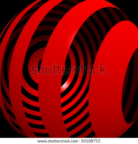 A ball pattern in black and red - stock photo