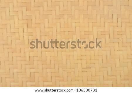 A bamboo basket background - stock photo