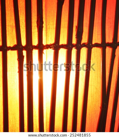 a bamboo lamp  - stock photo