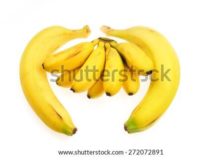 A banana in a white background  - stock photo
