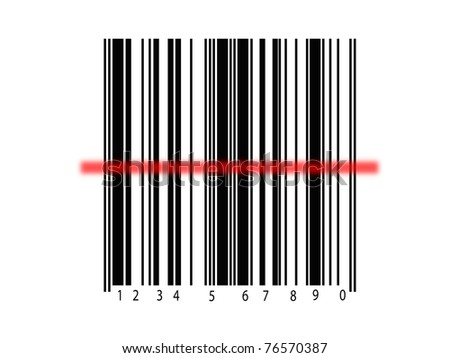 A barcode isolated against a white background