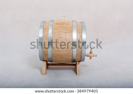 A barrel of alcohol on a white background. - stock photo