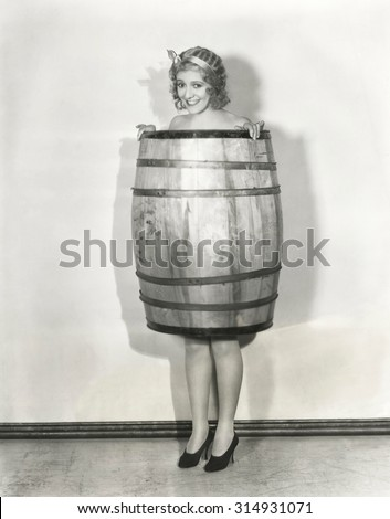A barrel of laughs - stock photo