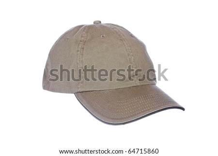 A baseball cap isolated on white background - stock photo