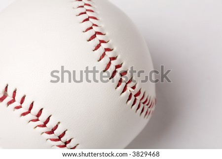 a Baseball close up shot