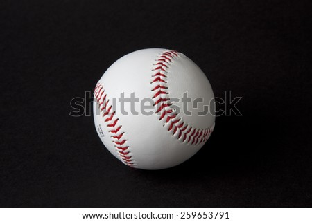 A baseball on a black background.