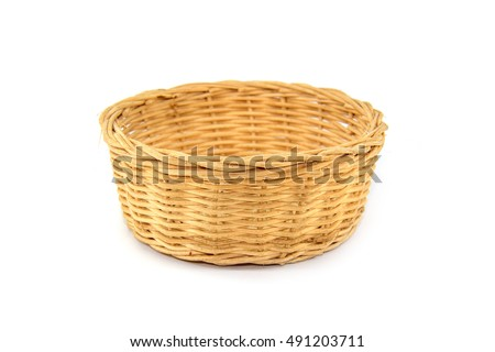 A basket isolated on white background