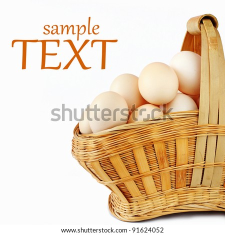 A Basket of Eggs - stock photo