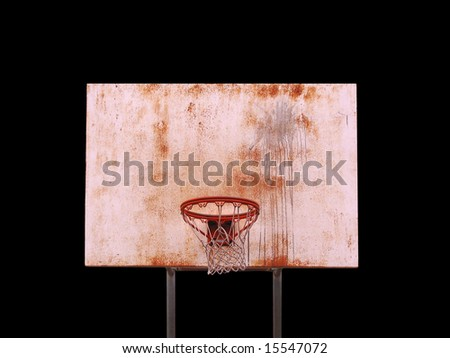 A basketball hoop isolated over black  - includes clipping path. - stock photo
