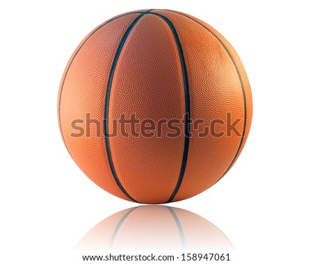 A Basketball or Basket ball isolated on the white background - stock photo