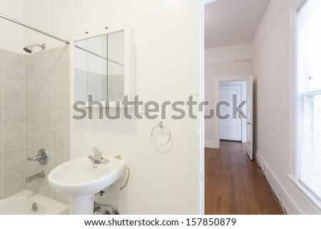 A bathroom in an apartment
