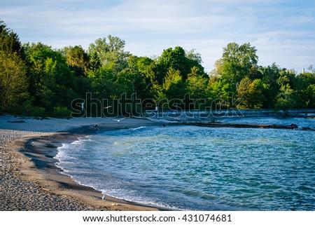 A beach at Centre Island, in Toronto, Ontario. - stock photo