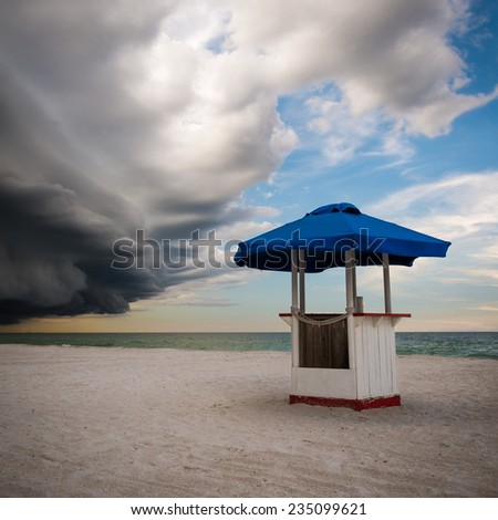 A beach scene in St Pete Beach Florida - stock photo