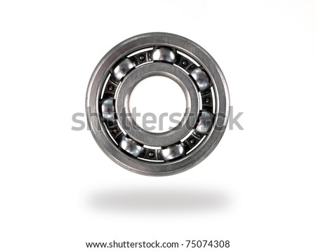 A bearing isolated against a white background - stock photo
